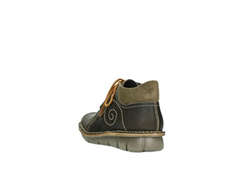 Wolky para 500 8384 Oiled Forest Botas 50730 Leather mujer Green tFrFnq4U
