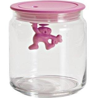 Alessi Gianni Storage Jar with Lid by Mattia Di Rosa Size: Small, Color: Pink by