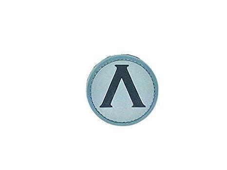 Lambda Spartan Shield Half Life Blau PVC Airsoft Klettverschluss Patch