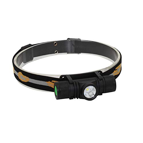 Whaitfire XM-L2 1000 LM Headlight USB Rechargeable Headlamp for Running, Camping, Hiking Adjustable Headband and 3000 mAh Battery 18650 Battery Included