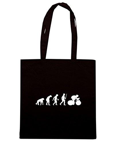 T-Shirtshock - Bolsa para la compra EVO0003 Biker Evolution Humor Maglietta Negro