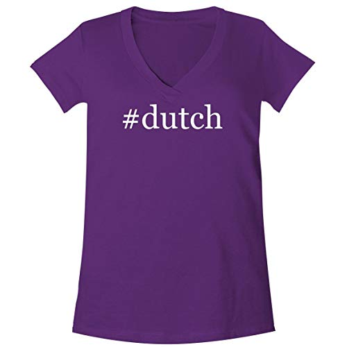 #Dutch - A Soft & Comfortable Women's V-Neck T-Shirt, Purple, X-Large (Le Creuset Oval Dutch Oven 3-5 Qt)