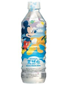 [Mickey Mouse package] Bourbon natural water PET500mlX24 pieces [X2 case: ON total 48] by Bourbon