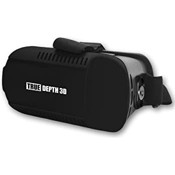 True Depth 3D® VR Inferno™ Premium Virtual Reality VR Headset with Magnet Trigger for ALL Android or Apple 4-6 Inch Smartphones