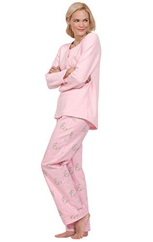 Pink Cozy Pajamas - PajamaGram Soft Fleece Pajamas Women - Cozy Pajamas for Women, Pink, M, 8-10