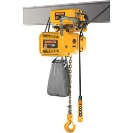 (NER Dual Speed Elec Hoist w/Motor Trolley - 1-1/2 Ton, 10' Lift, 18/3 ft/min, 460V)