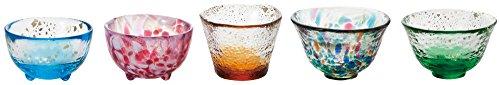Tsugaru Biidoro Mini Glass Set Glass Five Different by Aderia