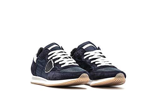 Blu Pelle Model Donna Bianco In 1101 Sneakers Scarpa Philippe Trld Tela E Mod Tropez Colore qf6g60
