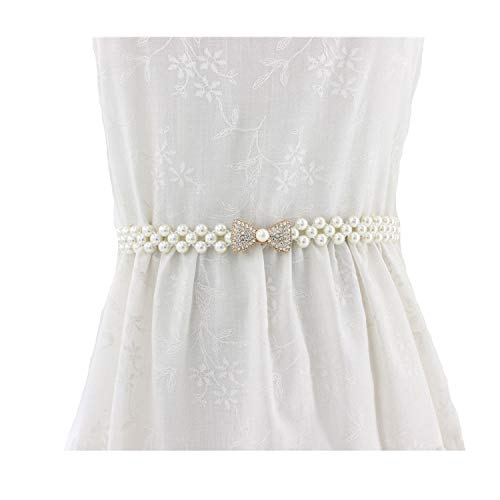 SOTOLAN Dress Decorative Elastic Waist Seal Rhinestone Pearl fine Fashion Elastic Belt Female Waist Chain (style2)