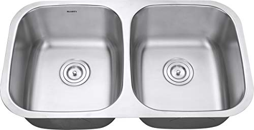 Ruvati 32-inch Undermount 50/50 Double Bowl 16 Gauge Stainless Steel Kitchen Sink - RVM4300 by Ruvati (Image #8)