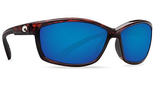 Costa Del Mar Manta 580G Manta, Shiny Black Blue Mirror, Blue Mirror