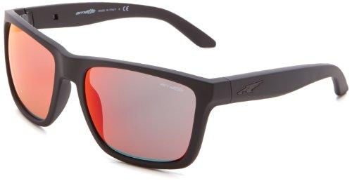 Arnette Witch Doctor AN4177-01 Iridium Sport Sunglasses,Fuzzy Black/Fuzzy Neon Orange/Red Mirror,55 - Arnette Doctor Witch