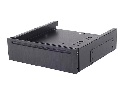 Silverstone Tek 5.25-Inch Aluminum Cover Bay Converter for Slot-Load Slim Optical Disk Drive and 4X 2.5-Inch HDD/SSD Drives FP58B Black