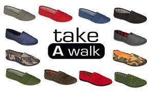 Machen Sie einen Spaziergang Canvas Slip-On für Frauen Marine