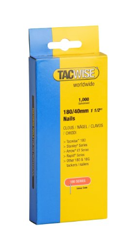 Price comparison product image Tacwise Type 180/40MM 18G Nails for Nail Gun (1000)