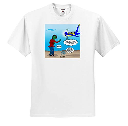 (3dRose Rich Diesslins Funny Out to Lunch Cartoons - Underwater Zombie or Scuba Diver Nitrogen Narcosis - T-Shirts - Toddler T-Shirt (2T) (ts_306029_15))