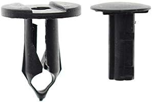 90pcs MOTOALL Nylon Bumper Fender Liner Trim Panel Shield Retainer Fastener Push Type Rivet Screw Car Clips for 7mm 8mm 10mm Hole Honda Acura 91503-SZ3-003 90653-HC4-900 GM Ford Chrysler Auto Body