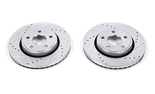 - Power Stop AR83076XPR Front Evolution Drilled & Slotted Rotor Pair