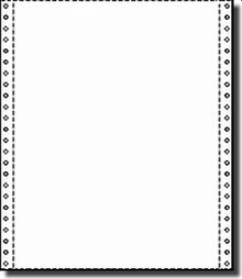 - Label Outfitters Continuous Form Paper, 9-1/2 x 11, 9.5 x 11 One Part Blank 18 lb. Continuous Stock Computer Paper, 3,000 Sheets, with Side Perforations