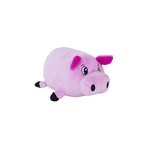 Fattiez Round Squeaky Plush Dog Toy by Outward Hound, Small, Pig (Round Dog Toys)
