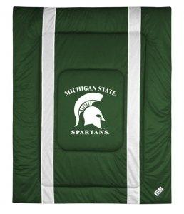 - Michigan State Spartans QUEEN Comforter (Sideline Series)