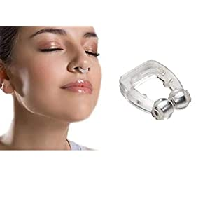 FreShine Silicone Magnetic Unisex Anti Snore Nose Clip Night Device With Case, Snore Stopper, Anti Snoring Device For Men, Anti Snoring Device For Women, Snoring stopper, Nose Clips For Snoring