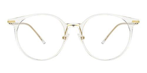 - TIJN Vintage Round Non-prescription Glasses Circle Optical Eyeglasses Frames