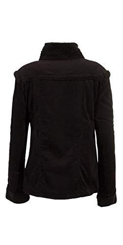 Manteau Chaud Et Femme Coloré Noir Court rAxrqwg
