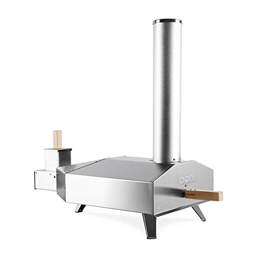 Ooni 3 Portable Wood Pellet Pizza Oven, Stainless Steel (Best Outdoor Wood Fired Pizza Oven)