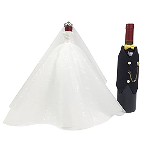 wedding gifts for the couplebridal shower gifts bride and groom wine bottle coverswedding centerpieces decorationswhitexblacktuxedo