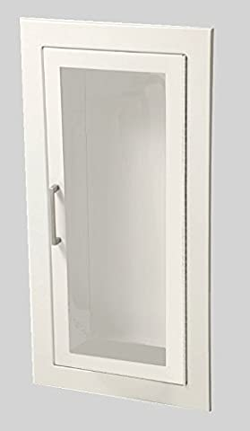 JL Industries 1015F10 Full Glass Flat Trim Extinguisher Cabinet by J L Industries - Access Steel Ladder
