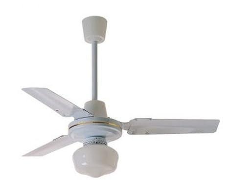 Zephir zfs ventilatore da soffitto in metallo con lampada
