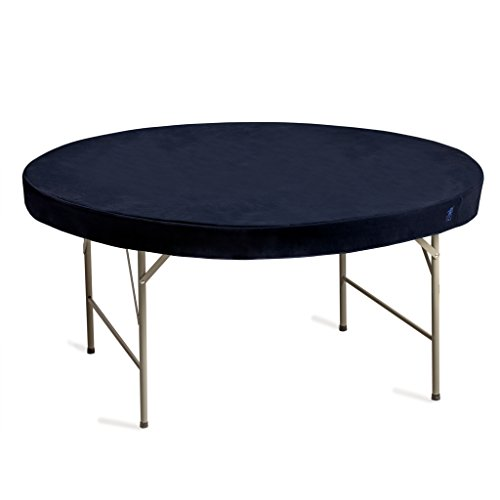 Yellow Mountain Imports Professional Grade Blue Round Table Cover for Card Games, Mahjong, Board Games, Dice Games, and More - 60 Inches