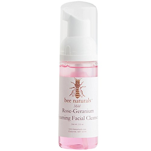 BEST Mild Rose Geranium Self Foaming Facial Cleanser - All-Natural - Radiance-Enhancing Pimple Treatment - Antioxidant-Rich, Regenerating and Rehydrating - Perfect for All Skin Types