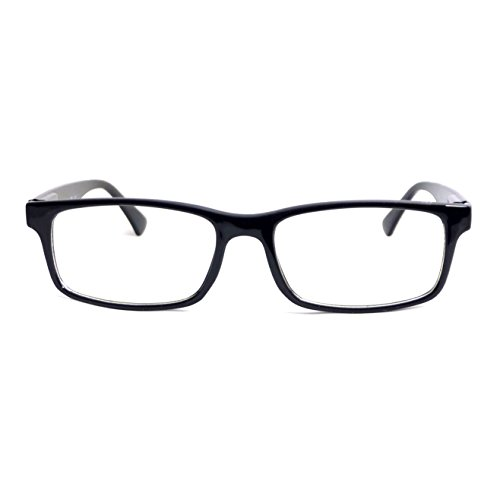 RETRO Nerd Thin Men Women Rectangular Frame Clear Lens Eye Glasses BLACK