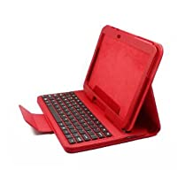 myBitti removeable bluetooth keyboard for Samsung Galaxy Tab 2, 10.1 p5110/p5100/ p7510/ p7500 Portfolio Case -(with stylus pen) (red)