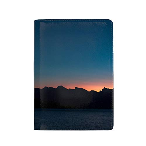 zhurunshangmaoGYS Passport Holder Travel Wallet Blocking Leather Card Case Cover, Gibsons Canada Mountains Sea Shore Skyline 5.51 ()