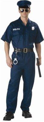 California Costumes Men's Police, Navy -