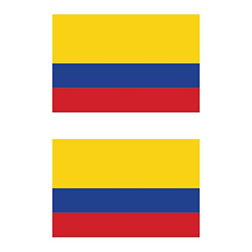 Two Pack Colombian Flag Sticker FA Graphix Decal Self Adhesive Vinyl Colombia COL CO