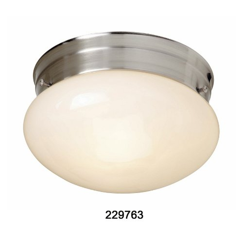 Portfolio 2-Pack 8-in Brushed Nickel Ceiling Flush Mount Item#229763 Model#36188NTW UPC# 736916246705