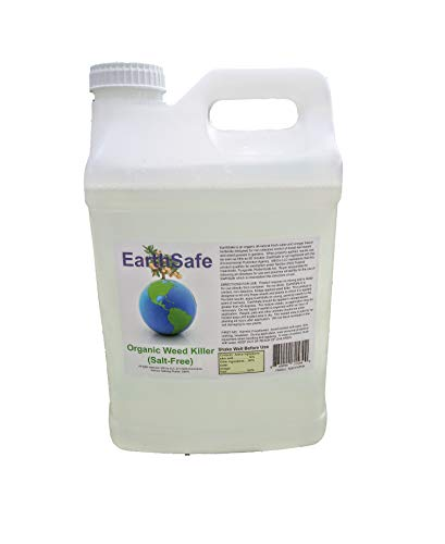 EarthSafe All Natural Organic Weed Killer Salt-Free - 100% Natural Pet Safe Weed Control (2.5 Gallon) Non Toxic Dog & Animal Friendly Works as Fast as 90 Minutes w/Our Vinegar Based Formula
