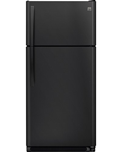 Kenmore 60509 18 cu. ft. Top Freezer Refrigerator with Glass Shelves in Black, includes delivery and hookup (Available in select cities only)