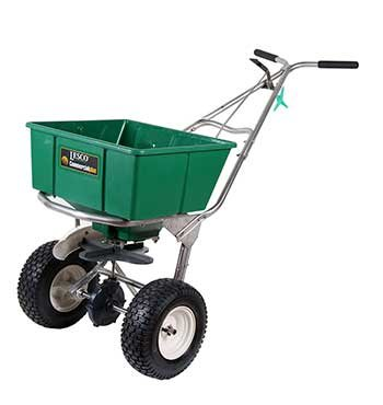 Spreader Manual - Lesco High Wheel Fertilizer Spreader with Manual Deflector - 101186 - Replaces 091186