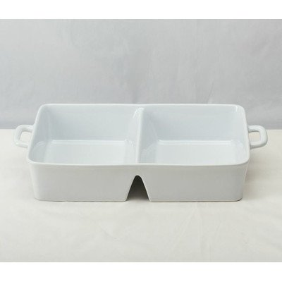 2 Section Divided Baking Dish with Handles