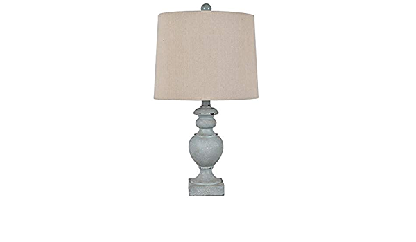 Crestview Collection Evavp1373 22 Th Pale Blue Resin Table Lamp Evolution Furniture