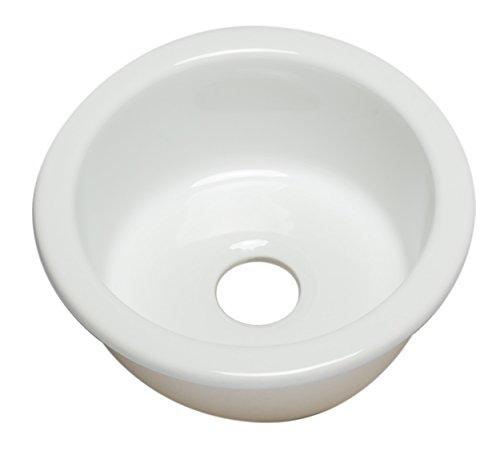 (ALFI brand AB1818R-W Fireclay Prep Sink, White)