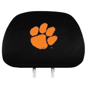 NCAA Clemson Tigers Head Rest Cover, - Connecticut Malls