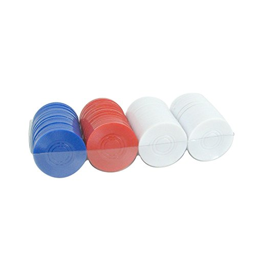 Set of 100 Plastic Poker Chips 4 Grams Great for Kids and Travel Games by Energi8_5st