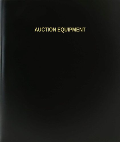 "BookFactory® Auction Equipment Log Book / Journal / Logbook - 120 Page, 8.5""x11"", Black Hardbound (XLog-120-7CS-A-L-Black(Auction Equipment Log Book))"