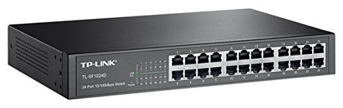 TP-Link 24-Port Fast Ethernet Unmanaged Switch | Plug and Play | Desktop/Rackmount | Metal | Fanless | Limited Lifetime (TL-SF1024D) Limited Metal